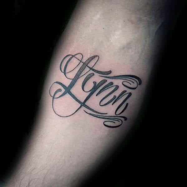 Inner Forearm Name Tattoo