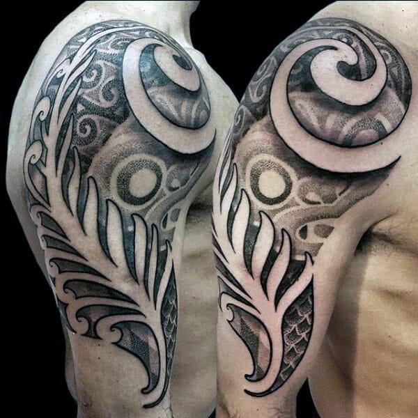 Dotwork Tribal Arm Tattoo