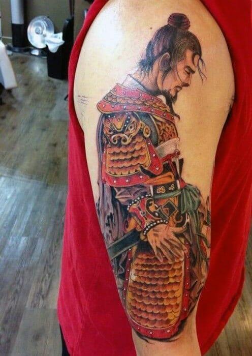 Samurai Head Tattoo