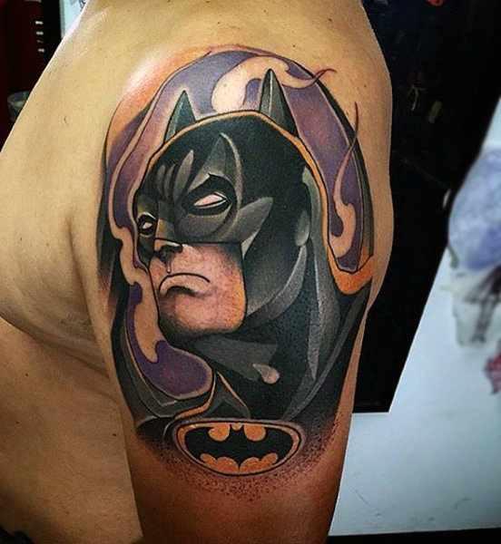 Upper Arm Batman Tattoo