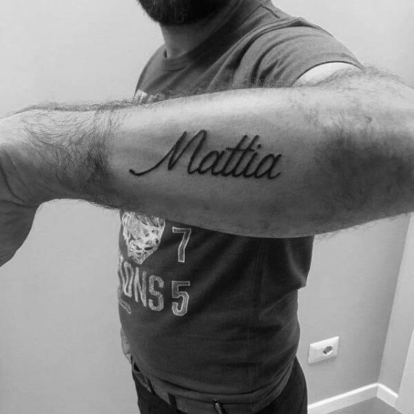 """Kids Name Tattoo """"Mattia"""""""
