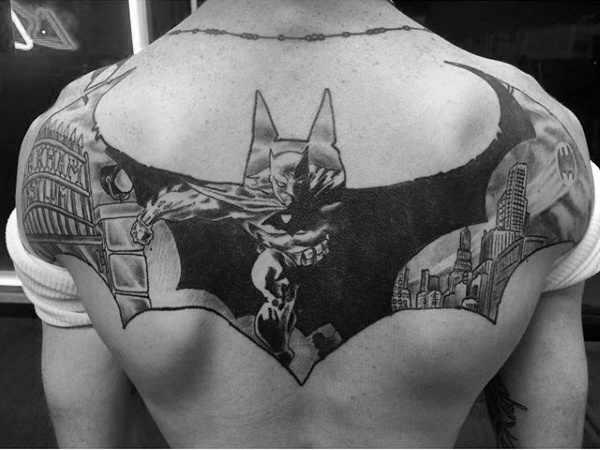 Batman Crest Big Back Tattoo