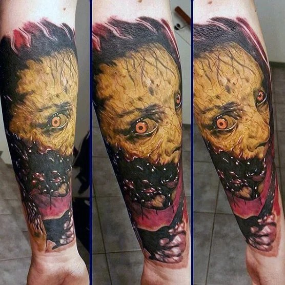 Demonic Sleeve Tattoo