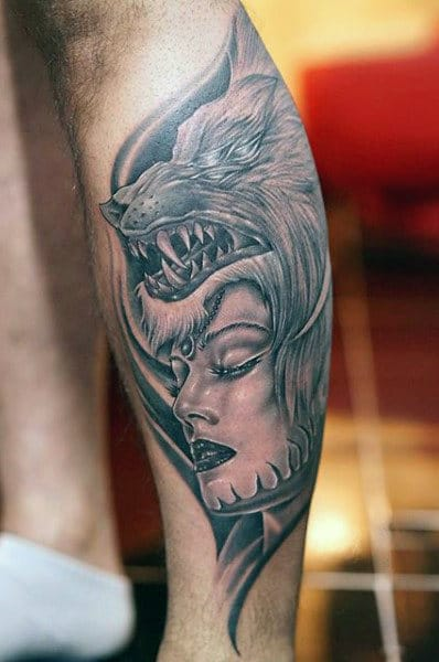 Wolf Sleeve Tattoo