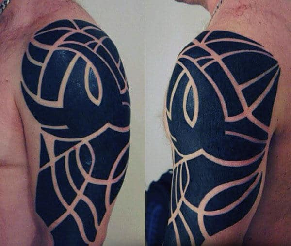 Modern Tribal Arm Tattoo