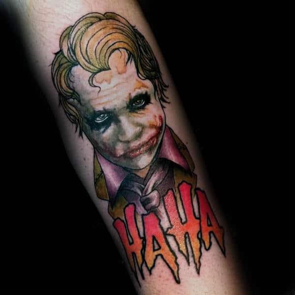 The Joker Haha Tattoo