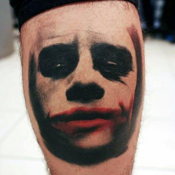 Red & Black The Joker Tattoo