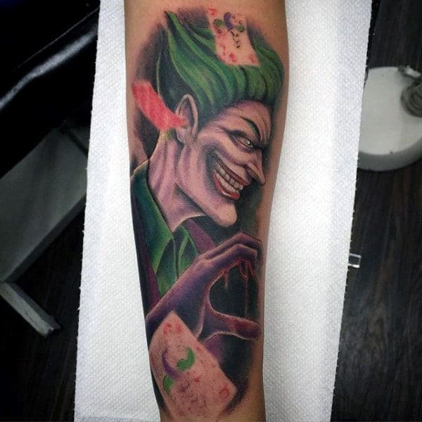 Retro The Joker Tattoo Design