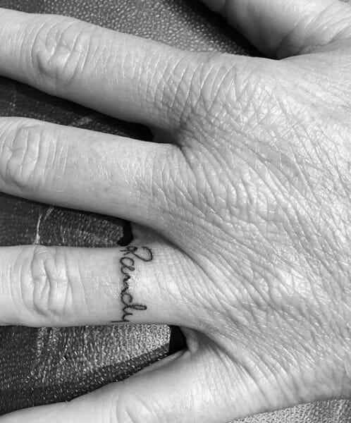 """Rachel"" Ring Name Tattoo"