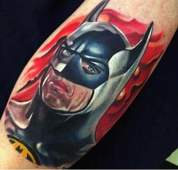 Small Batman Arm Tattoo