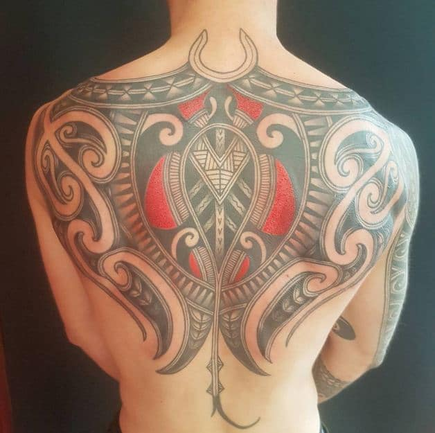 traditional back tattoo