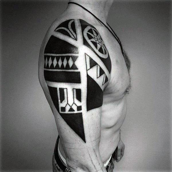 Upper Arm Cool Tribal Tattoo
