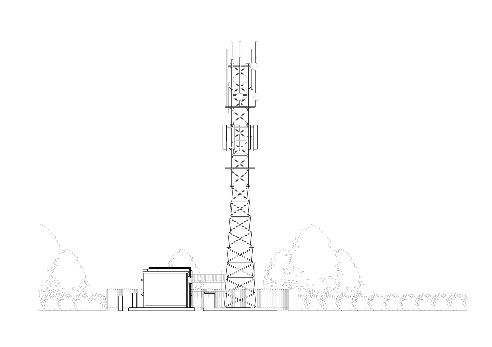 Lower Telecom Tower Elevation