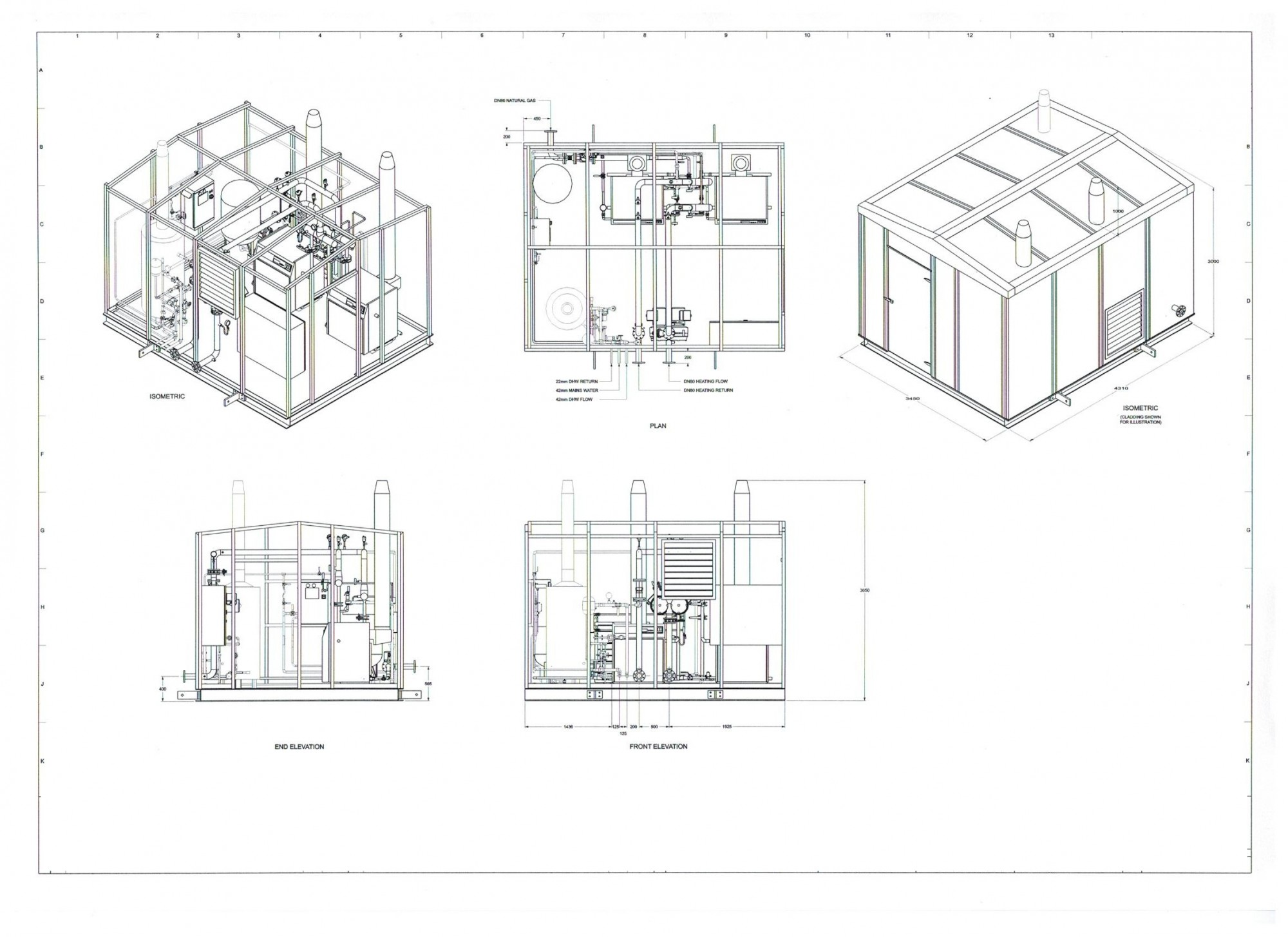 M Amp E Proposed Isometric Drawing