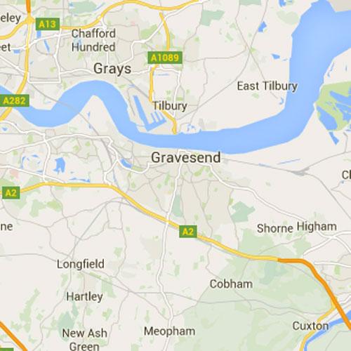 Gravesend Map