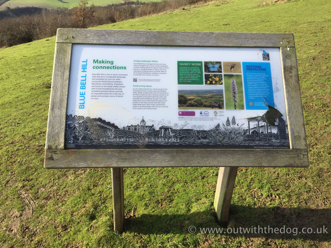 Blue Bell Hill Information Board
