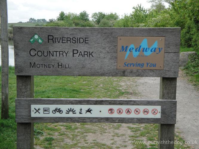 Riverside Country Park Motney Hill Sign