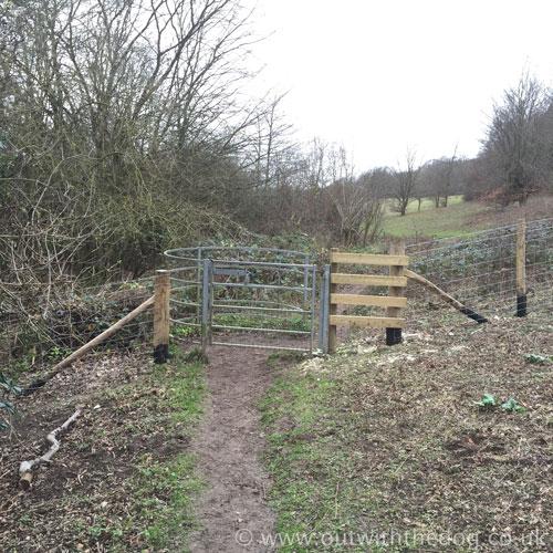Queendown Warren - Kissing gate.