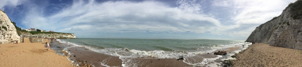 Dumpton Gap Beach Panorama