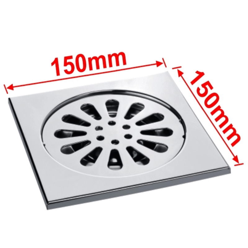 OuuKey Anti-smell Brushed Finish Stainless Steel Floor Drain