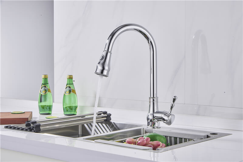 ouukey pull down kitchen faucet