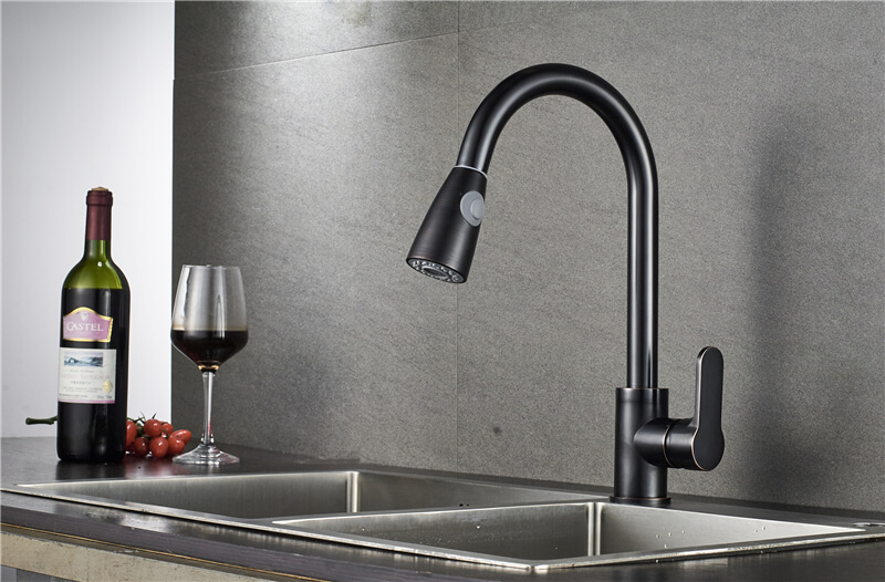 ouukey oil rubbed bronze orb black kitchen faucet