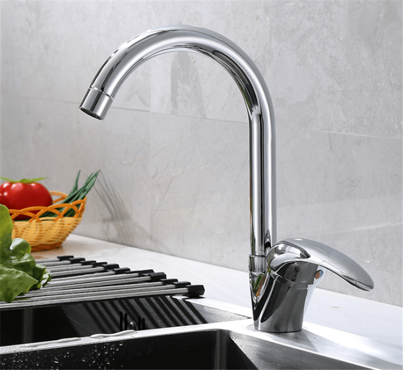 ouukey single hole kitchen faucet