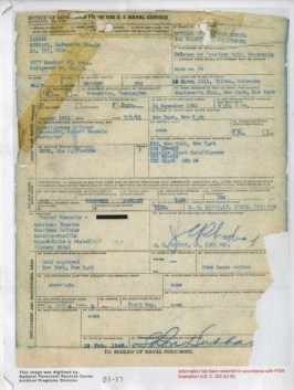 Notice of separation Ron Hubbard