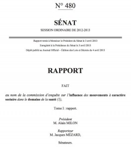 Rapport sénat