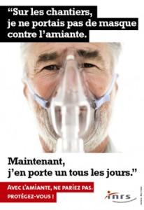 Campagne d'affichage contre l'amiante.