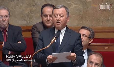 """Rudy Salles intervenant à l'Assemblée nationale sur le thème de """"l'attractivité française"""", le 18 février dernier.  Un attractivité plutôt malmenée par son rapport au Conseil de l'Europe..."""
