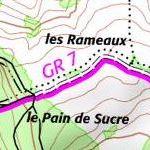 On a retrouvé les GR (sentiers de grande randonnée) sur Géoportail !