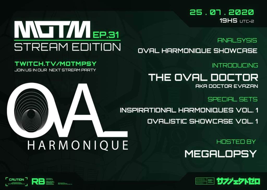 Announcement MOTM EP.31 - Oval Harmonique Showcase