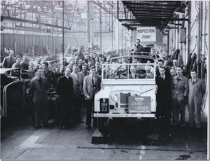 1952 - 50,000th Land Rover