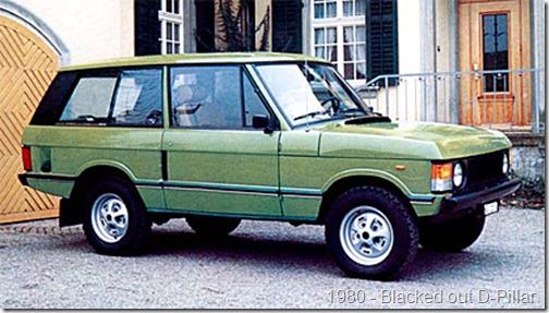 1970 Range Rover - Blacked out D-Pillar