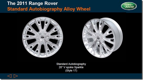 2011 Range Rover - Standard Autobiography Alloy Wheels - Style 17