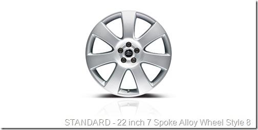 22 inch 7 Spoke Alloy Wheel Style 8