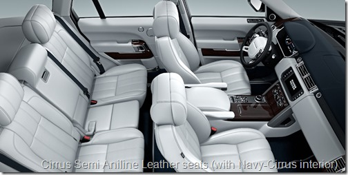 Cirrus Semi Aniline Leather seats (with Navy-Cirrus interior)
