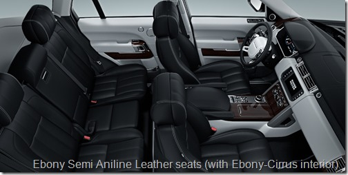 Ebony Semi Aniline Leather seats (with Ebony-Cirrus interior)