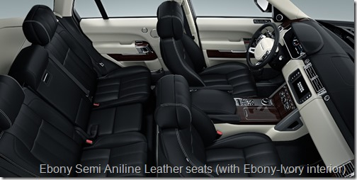 Ebony Semi Aniline Leather Seats (with Ebony Ivory Interior) ...