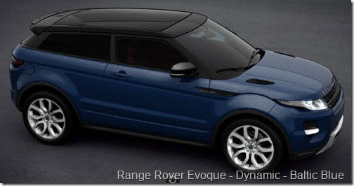Range Rover Evoque - Dynamic - Baltic Blue