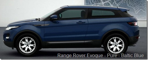 Range Rover Evoque - Pure - Baltic Blue