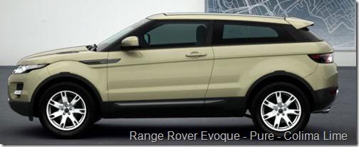 Range Rover Evoque - Pure - Colima Lime