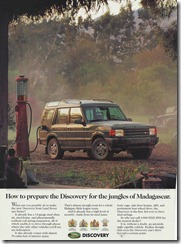 How to prepare the Discovery for the jungles of Madagascar.