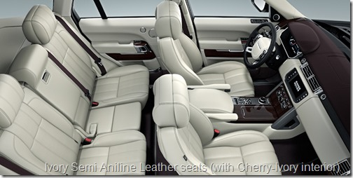 Ivory Semi Aniline Leather seats (with Cherry-Ivory interior)