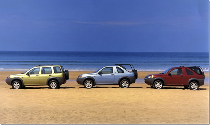Land Rover Freelander V6 Left to right:- 5 door Station Wagon, 3 door softback, 3 door hardback