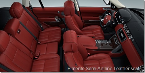 Pimento semi aniline leather - Range rover with red leather interior ...