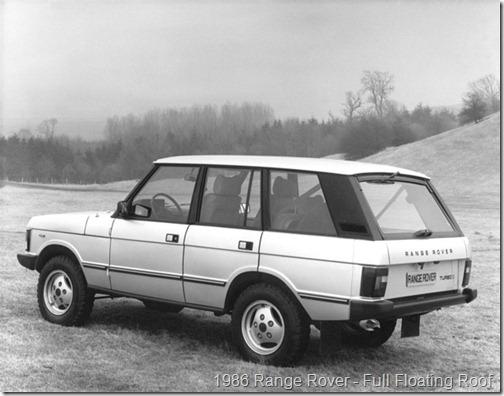 1986 Range Rover - Full Floating Roof