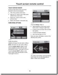 Range Rover Touch screen remote control Page 3