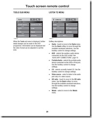 Range Rover Touch screen remote control Page 5